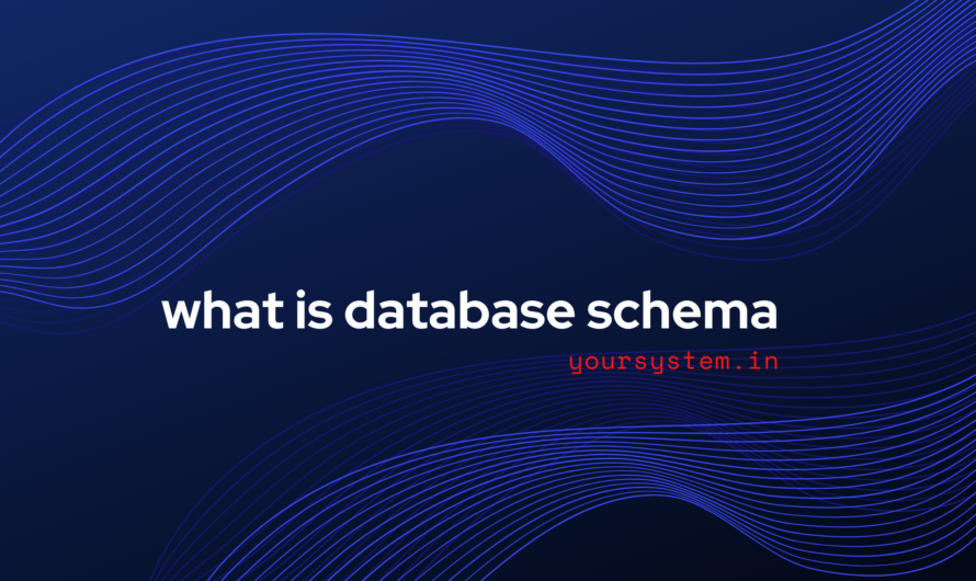 What is Database Schema?